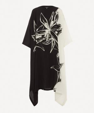 Scoop-Neck Printed Dress