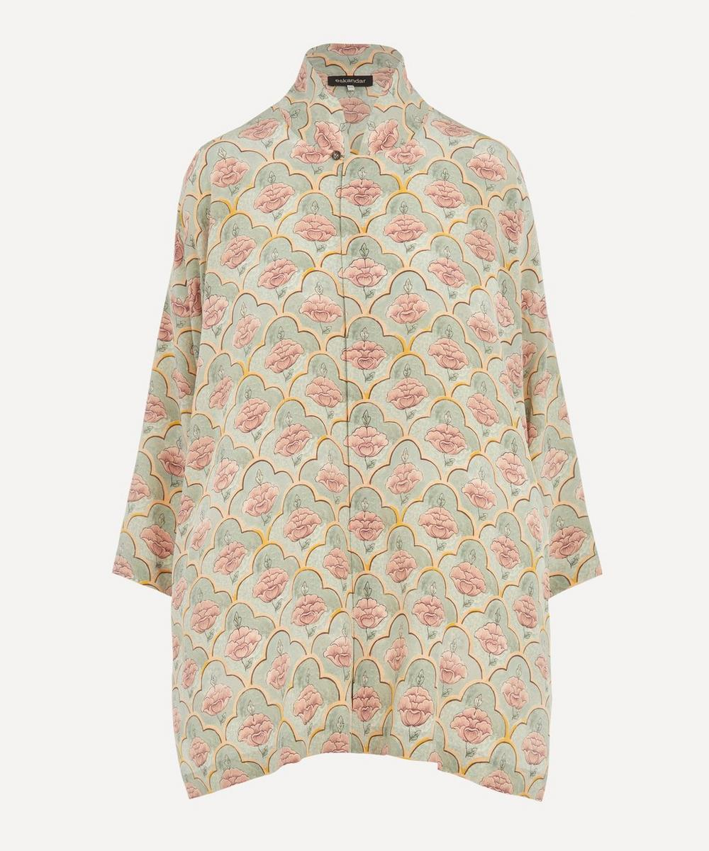 Eskandar - Jaipur Tile Silk A-Line Shirt