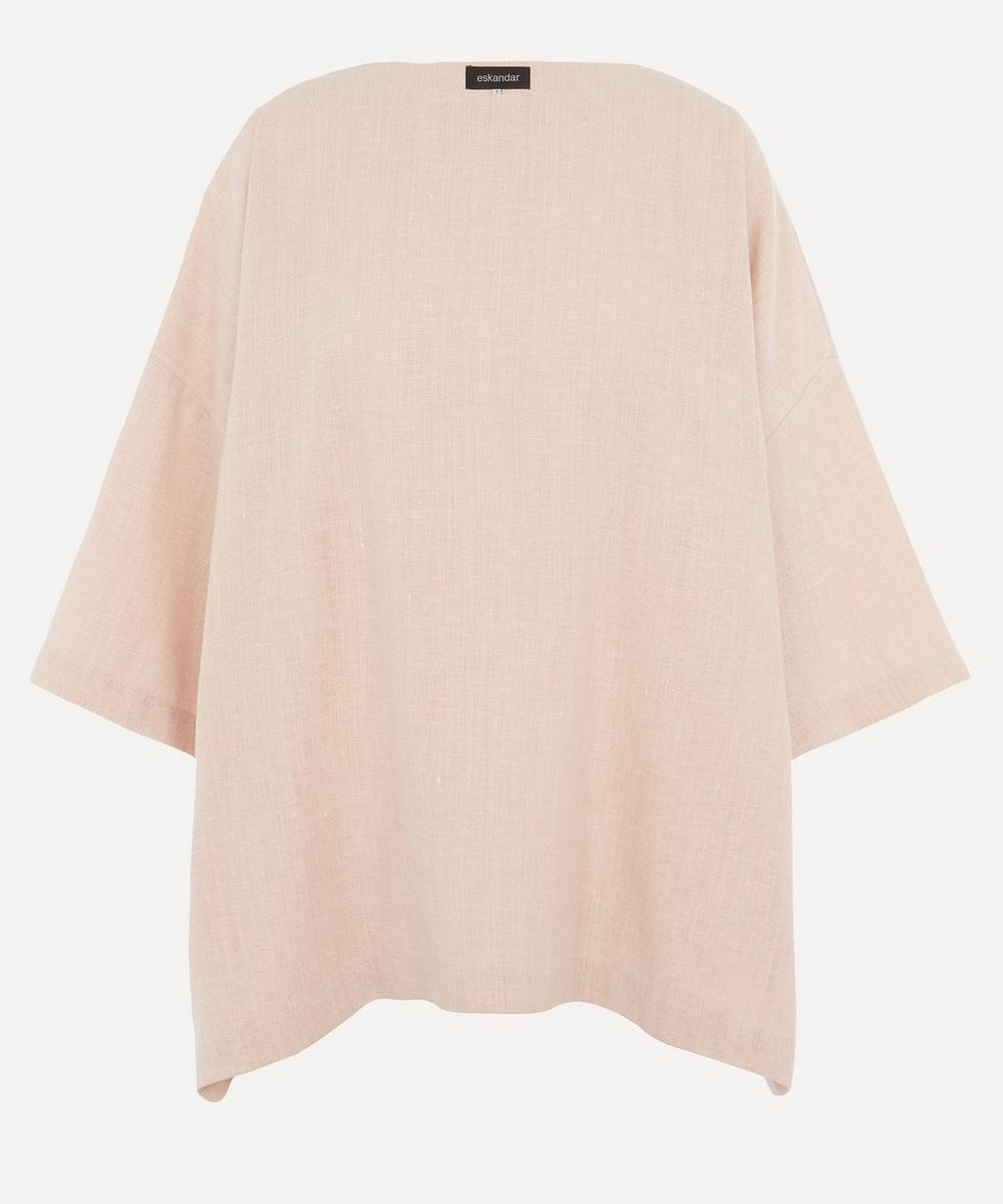 Eskandar - Boat-Neck Linen-Blend Tunic