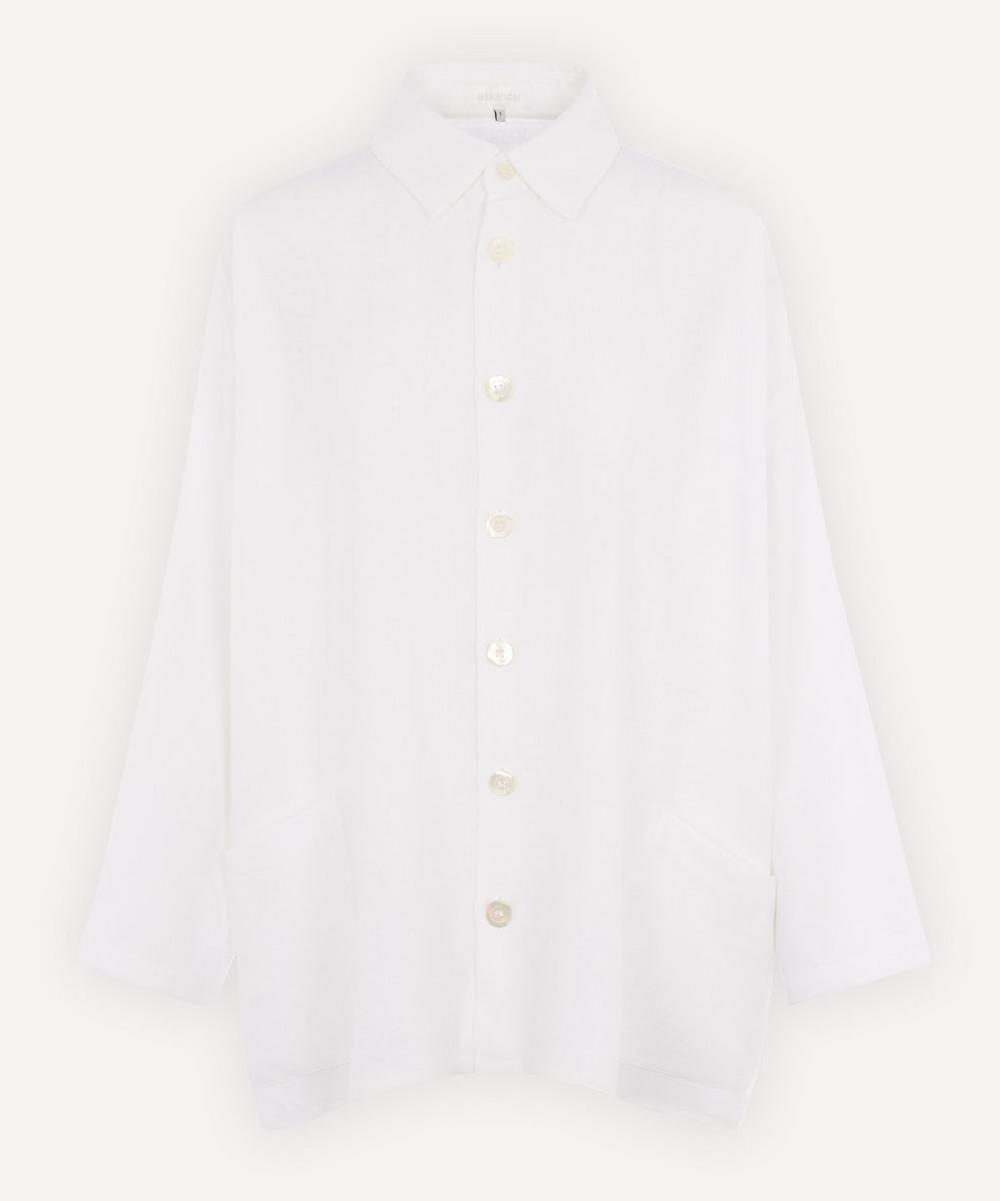 Eskandar - Wide A-Line Linen-Blend Collared Jacket