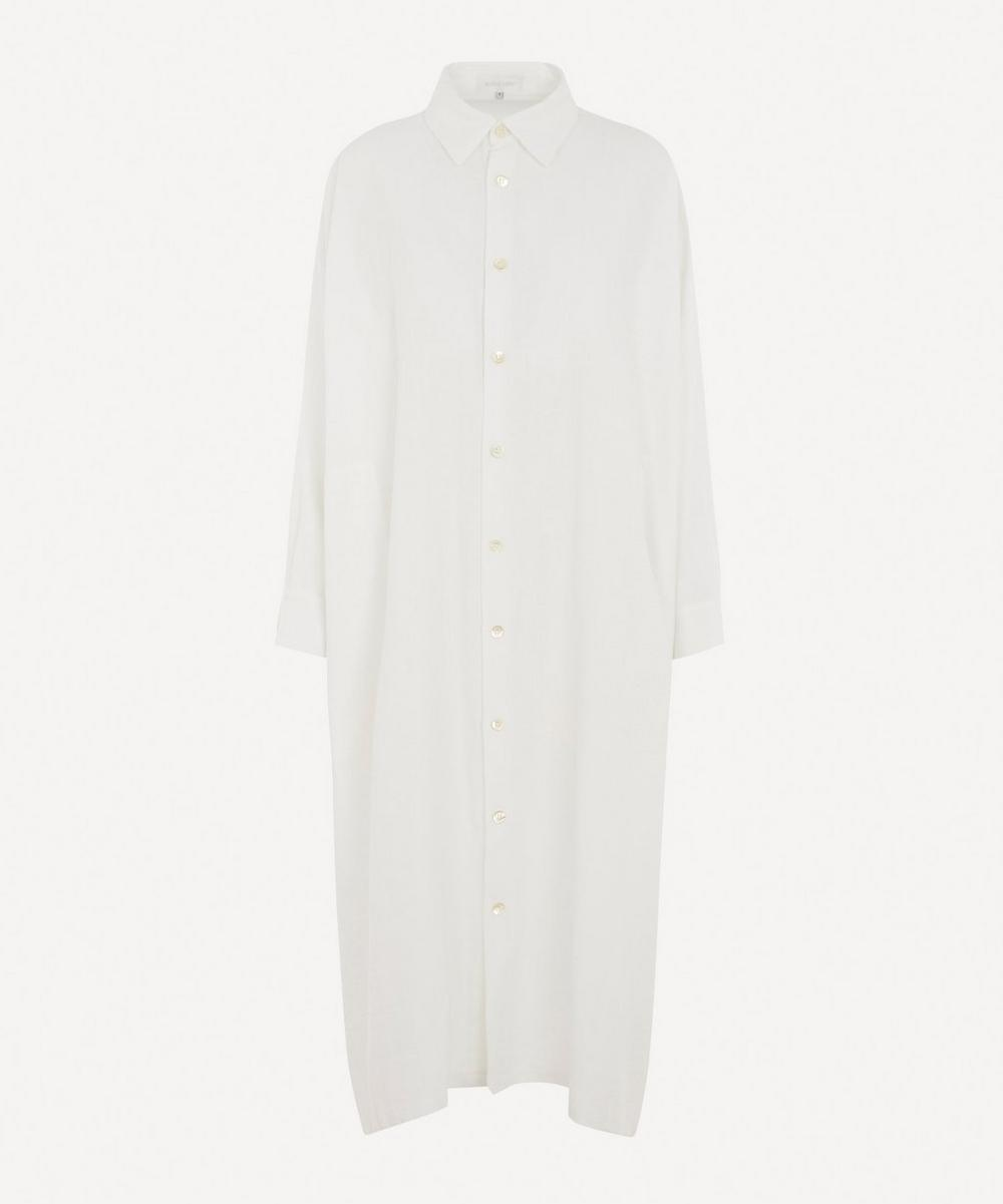 Eskandar - Wide A-Line Linen-Blend Shirt Dress