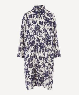 Mandarin Collar Printed Linen Jacket