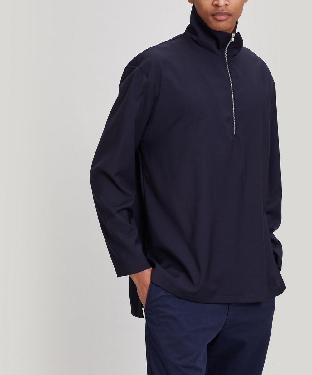 Barena - Taparo Half-Zip High-Neck Top