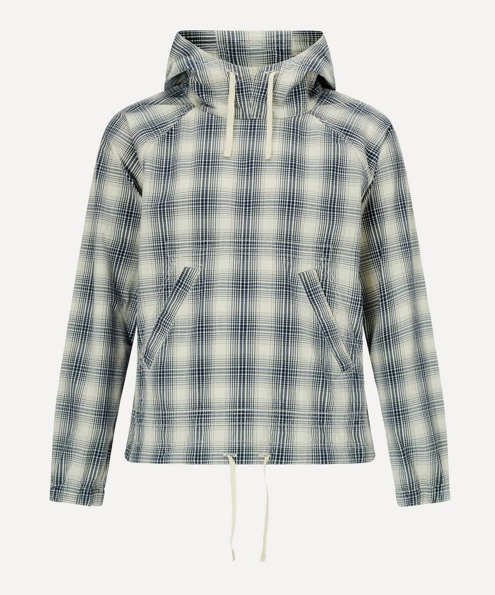 Albam - Over Dye Checked Cotton Hoodie