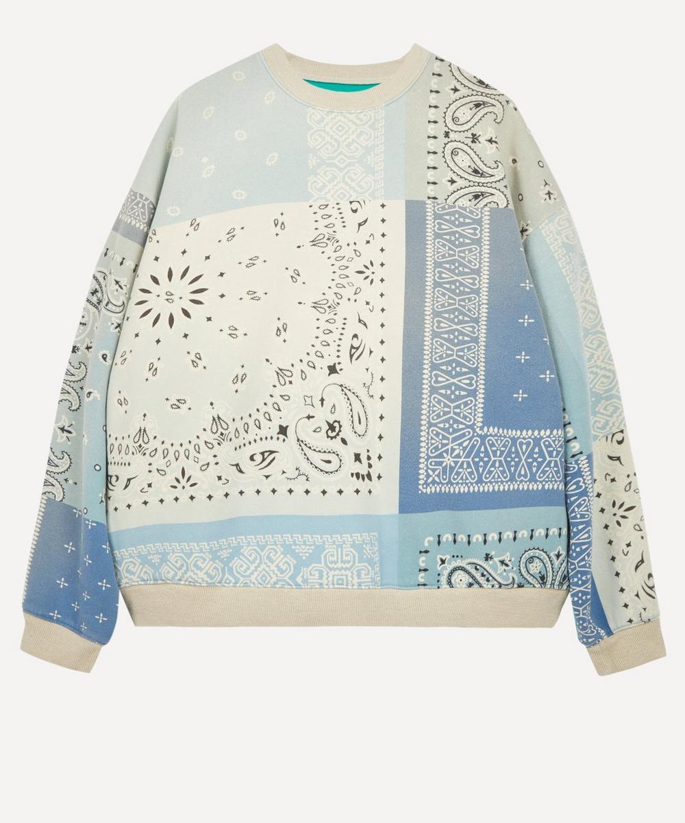 Kapital - Fleecy Knit Bandana-Print Sweater