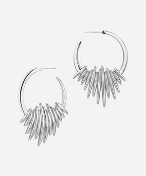 Silver Quill Hoop Earrings