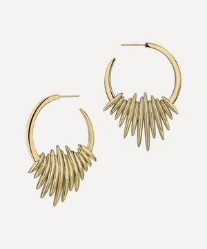 Gold Plated Vermeil Silver Quill Hoop Earrings