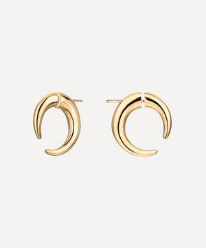 Gold Plated Vermeil Silver Quill Small Hoop Earrings