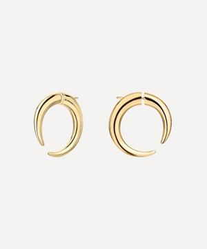 Gold Plated Vermeil Silver Quill Large Hoop Earrings