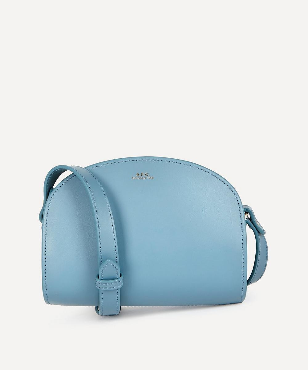A.P.C. - Leather Mini Demi-Lune Bag