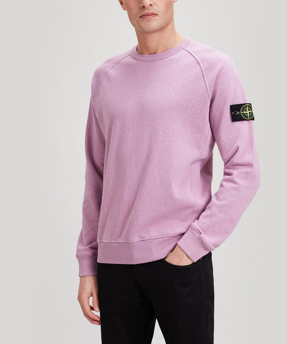 Stone Island - Washed Crew-Neck Cotton Sweatshirt