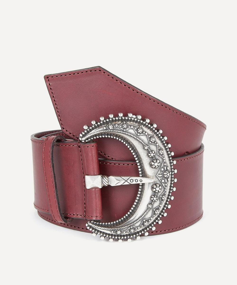 Etro - Large Leather Buckle Belt