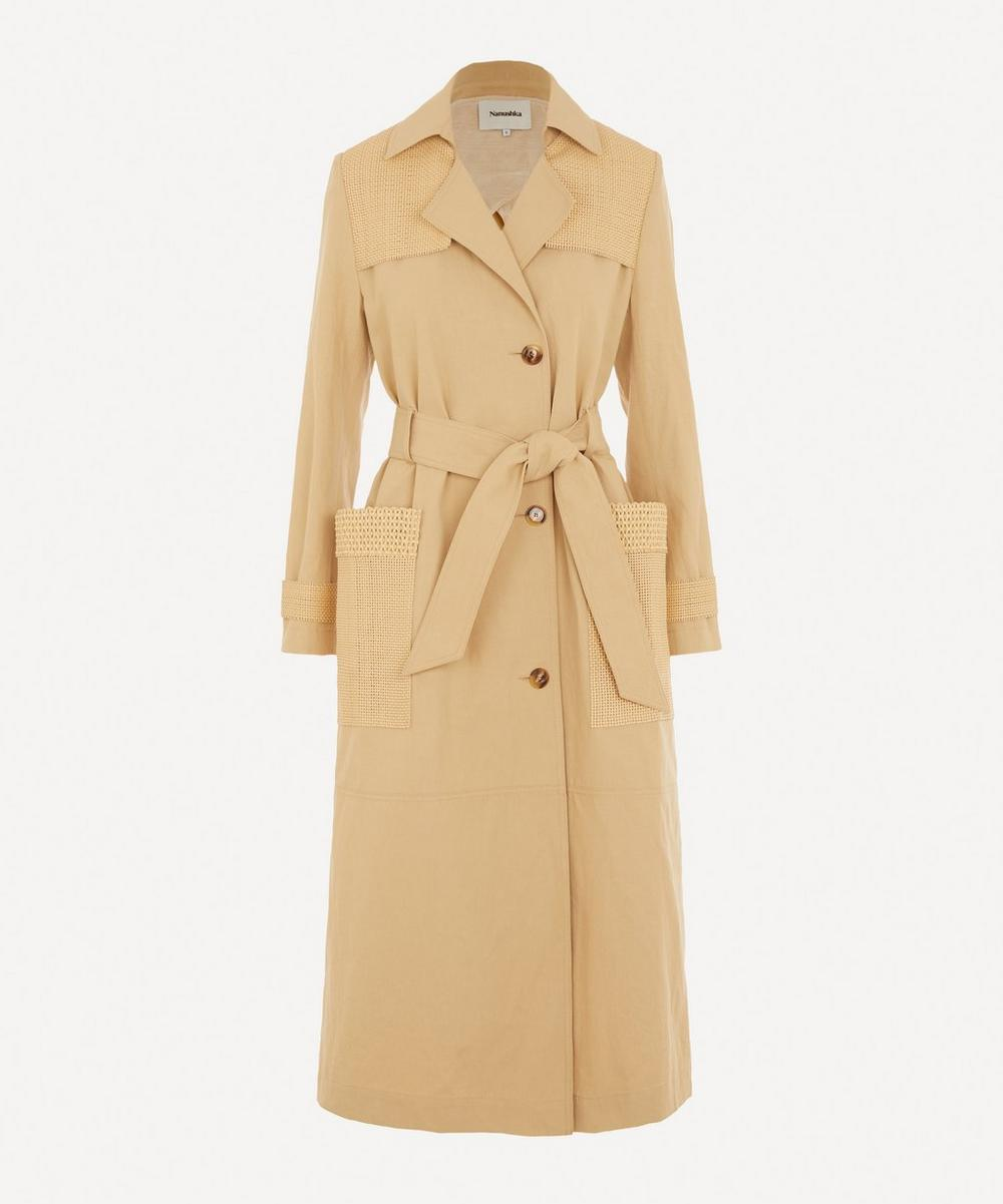Nanushka - Alex Fabric Block Trench Coat
