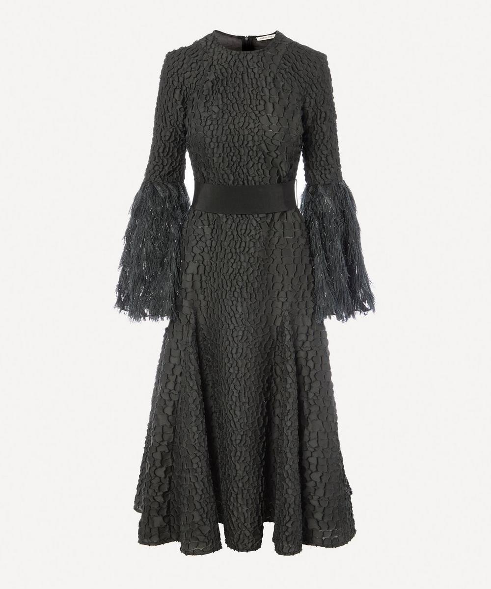 Teatum Jones - Bella Metallic Fringe Sleeve Dress
