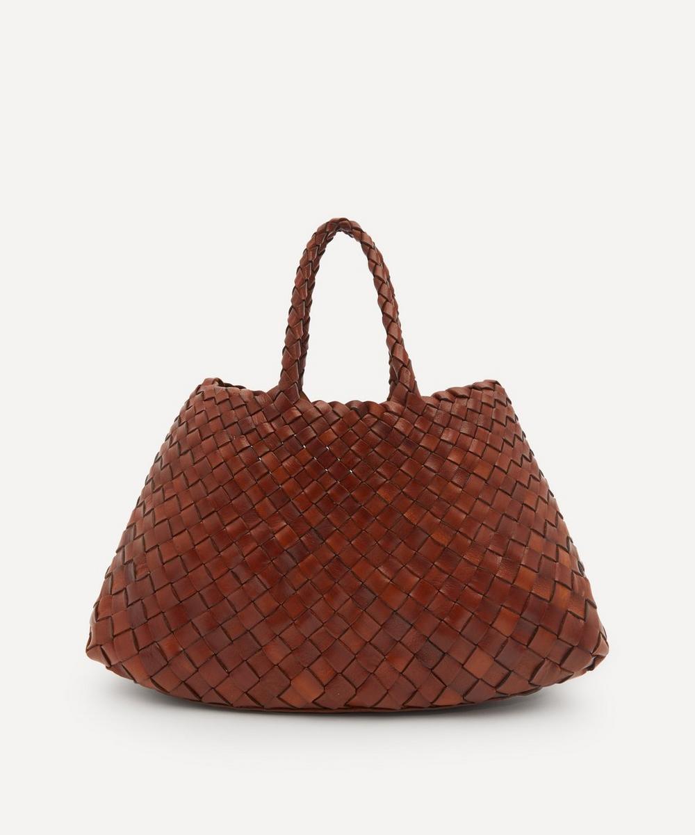 Dragon Diffusion - Small Santa Croce Woven Leather Tote Bag