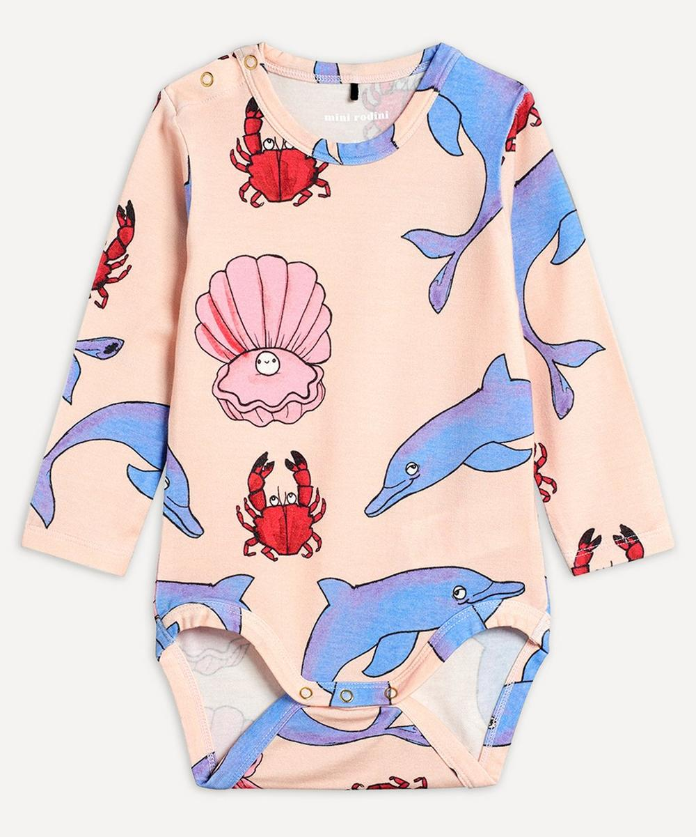 Mini Rodini - Dolphin Long-Sleeved Body 3-18 Months