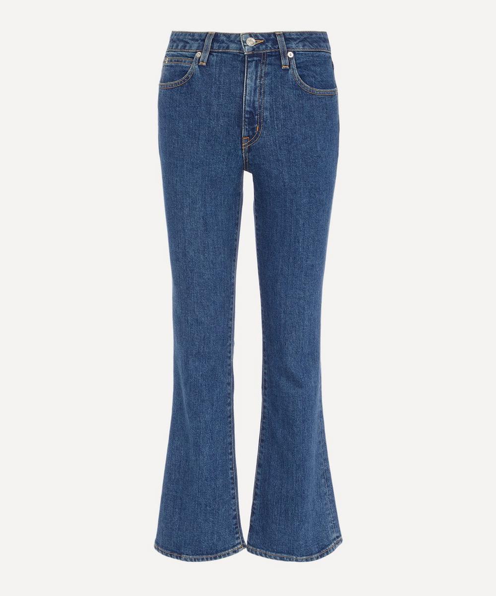 SLVRLAKE - Crystal Mid-Rise Slim Flare Jeans