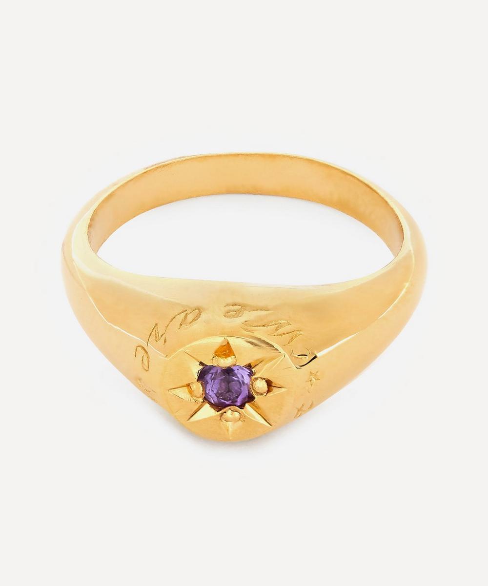 Alex Monroe - Gold-Plated Amethyst Birthstone Ring