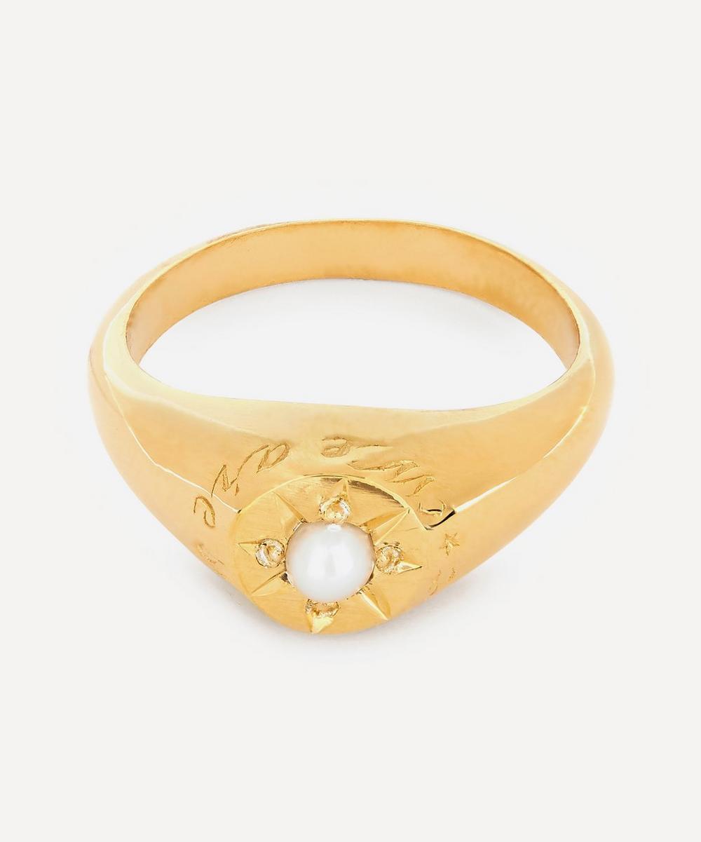 Alex Monroe - Gold-Plated Pearl Birthstone Ring
