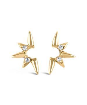 18ct Gold Sunbeam Lilith Diamond Stud Earrings