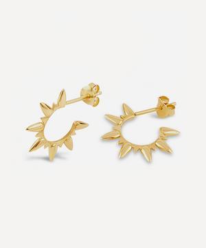 Gold Plated Vermeil Silver Sunbeam Ada Hoop Earrings