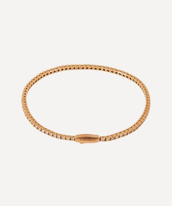 Liberty - Rose Gold Diamond Rainbow Tennis Bracelet