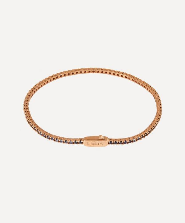 Liberty - Rose Gold Blue Sapphire Rainbow Tennis Bracelet