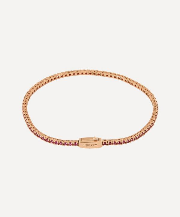 Liberty - Rose Gold Pink Sapphire Rainbow Tennis Bracelet
