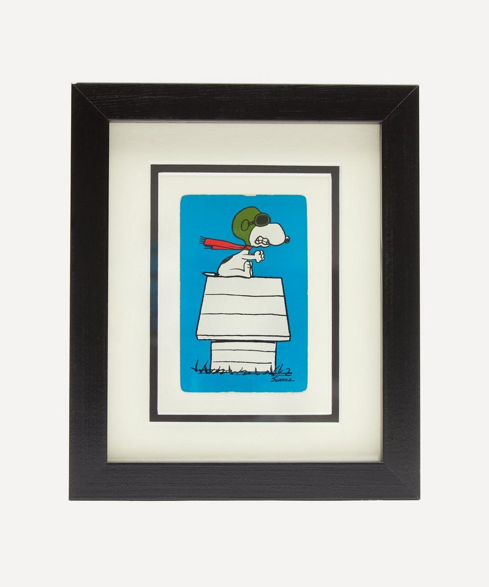 Vintage Playing Cards - Snoopy Flying Vintage Framed Playing Card