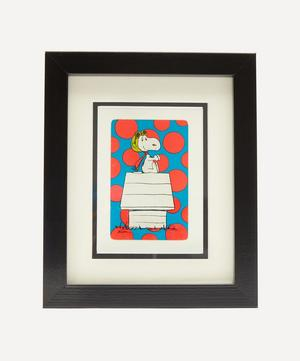 Snoopy Spotty Vintage Framed Playing Card