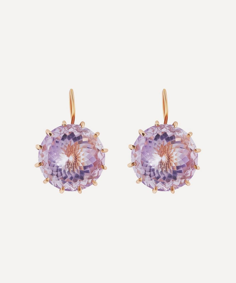 Andrea Fohrman - Rose Gold Rock Crystal Drop Earrings