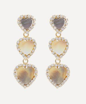 Olivia Mother of Pearl and Crystal Drop Earrings