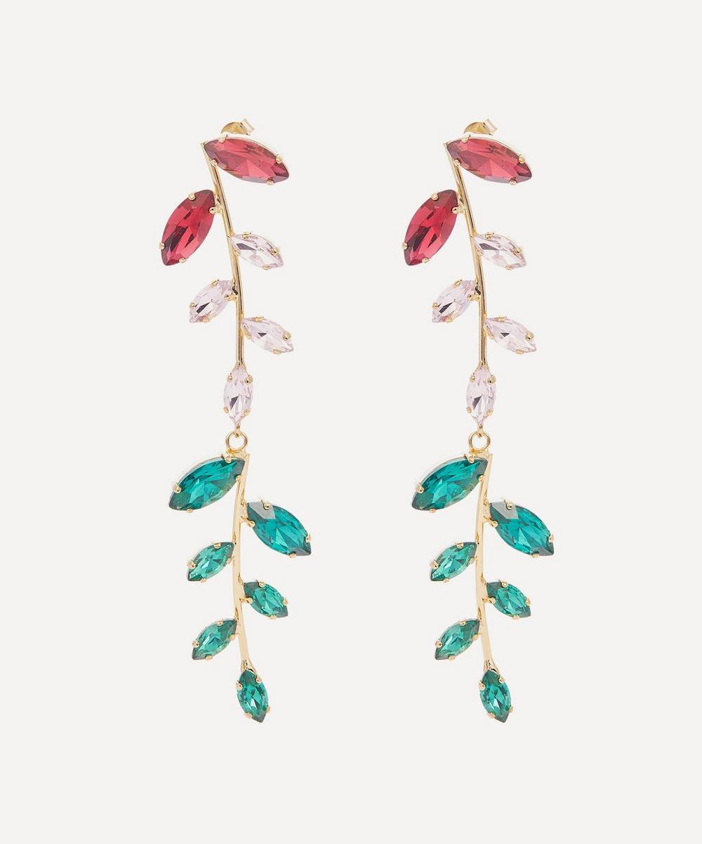 Rosantica - Utopia Long Crystal Drop Earrings