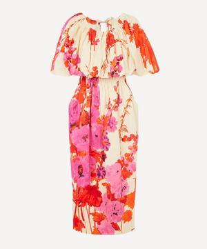 Cotton Floral Ankle-Length Dress