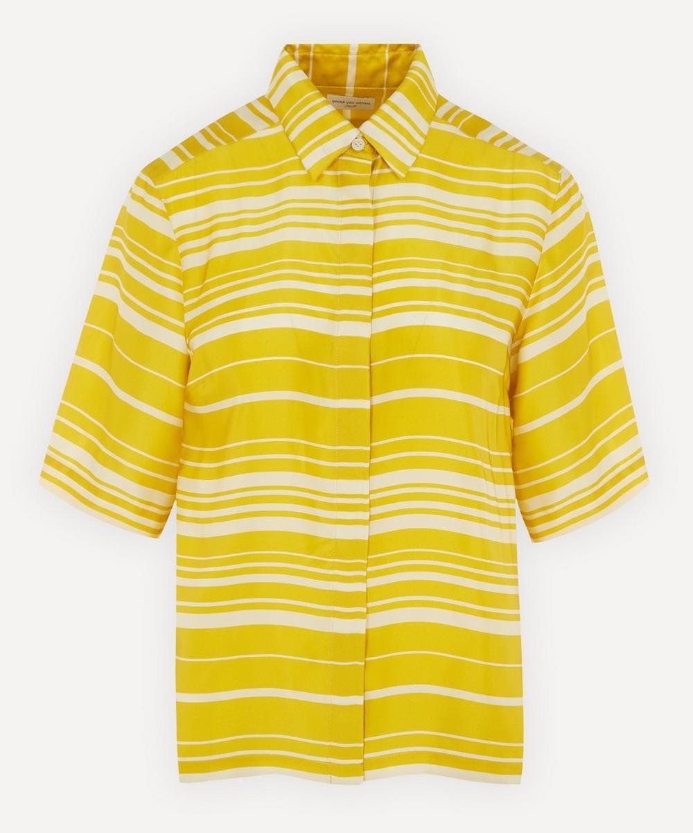 Dries Van Noten - Short-Sleeve Stripe Silk Shirt