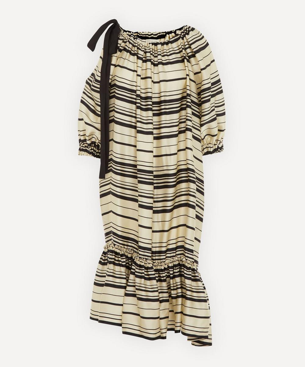 Dries Van Noten - Off-The-Shoulder Striped Dress