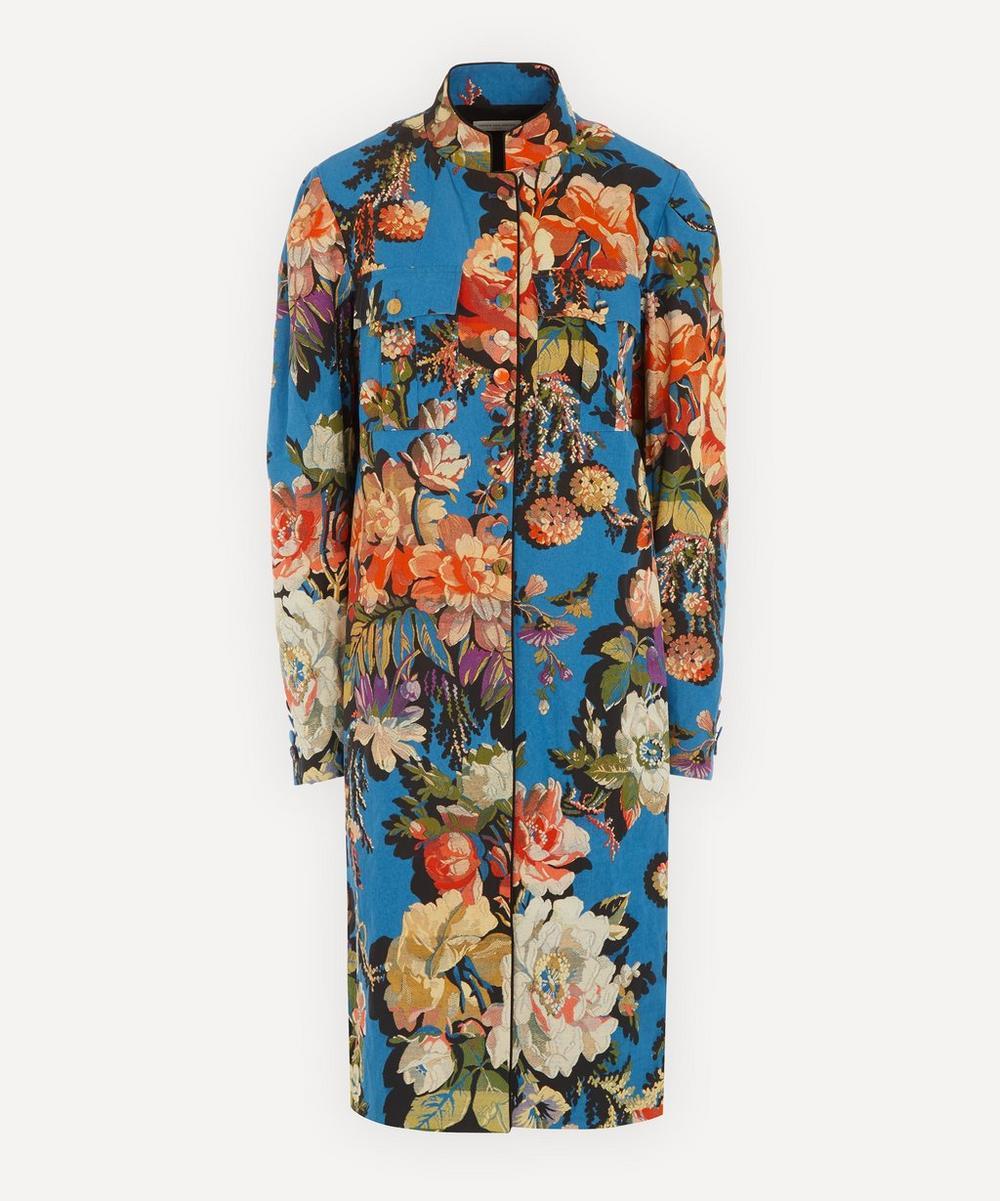 Dries Van Noten - Mandarin Collar Floral Coat