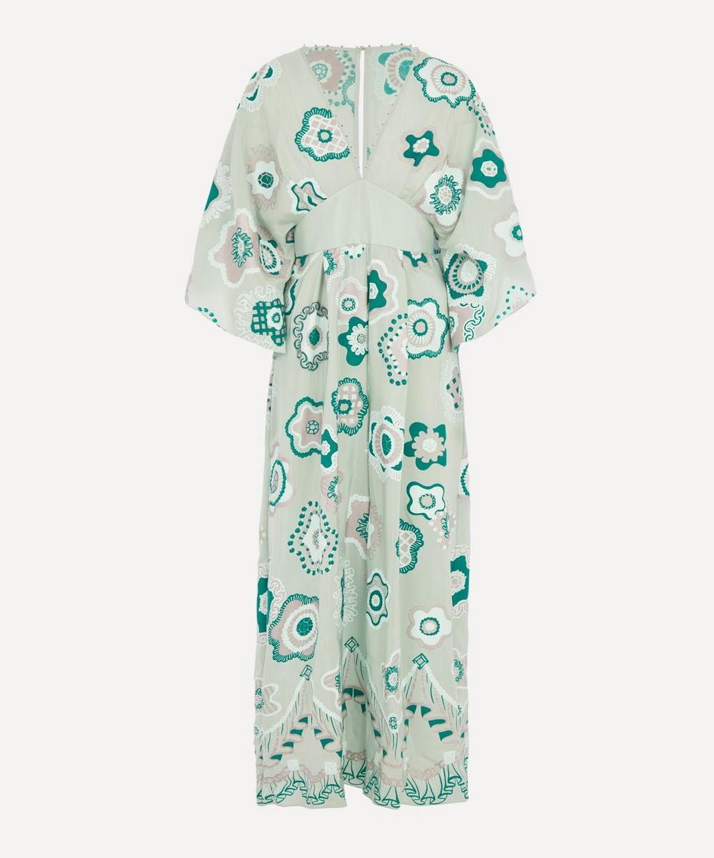 Zandra Rhodes - Jewel Flower Kimono-Sleeve Jumpsuit