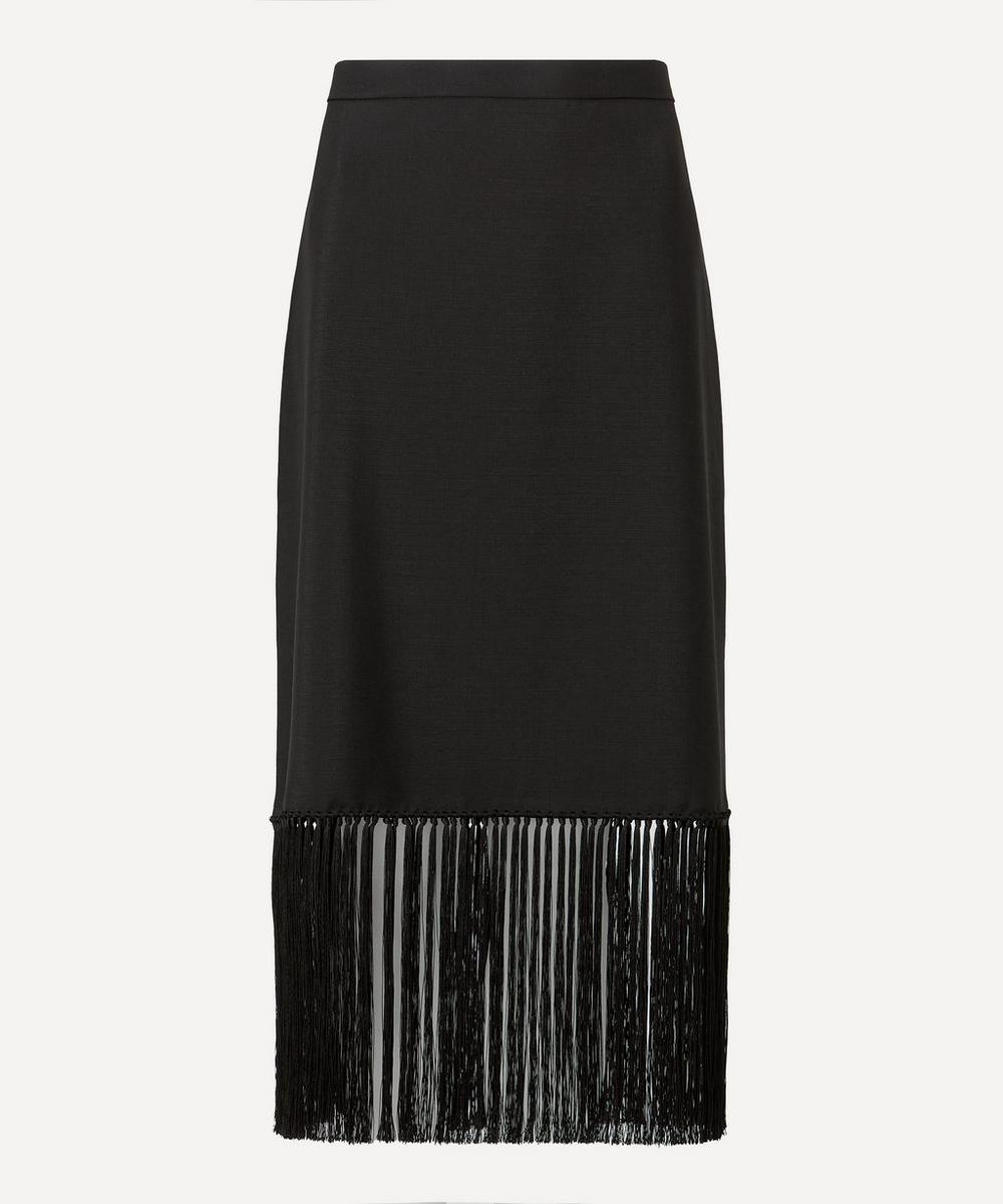Burberry - Fringed Mohair Wool A-Line Skirt