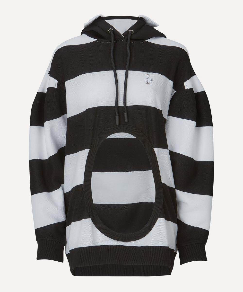 Burberry - Cut-Out Detail Stripe Hoodie