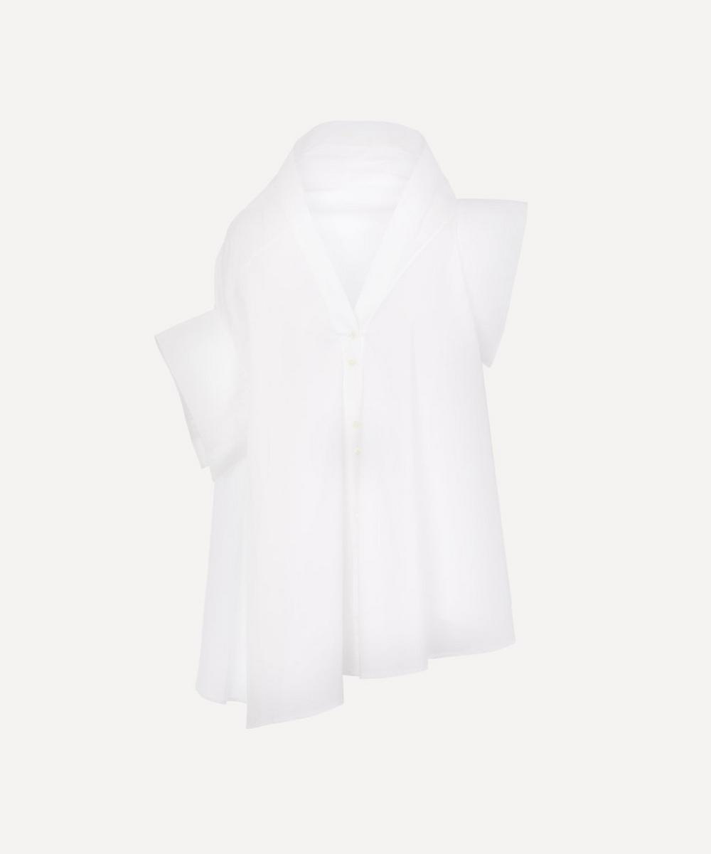 palmer//harding - Jasmin Asymmetric Belted Cotton-Blend Shirt