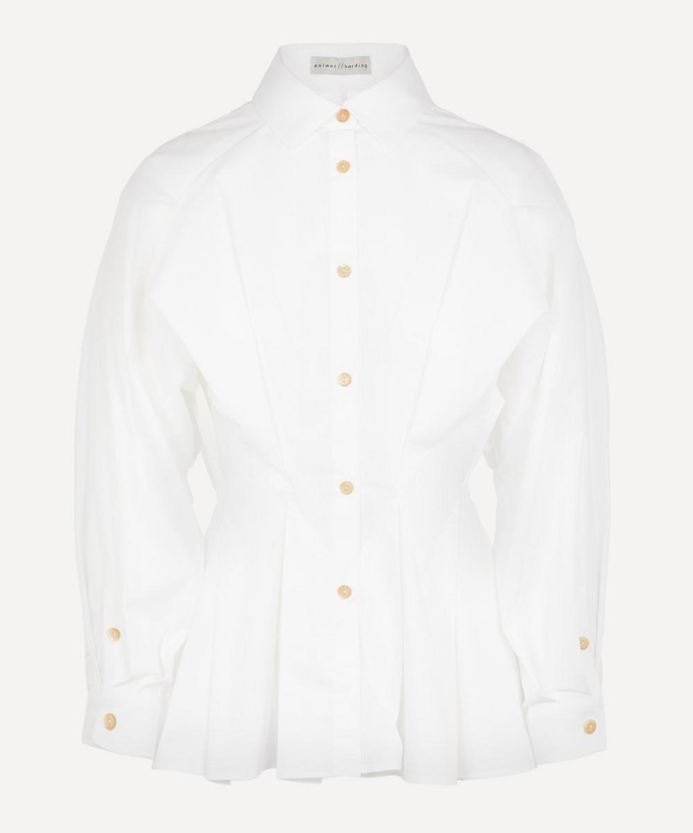 palmer//harding - Sunda Pleated Poplin Shirt