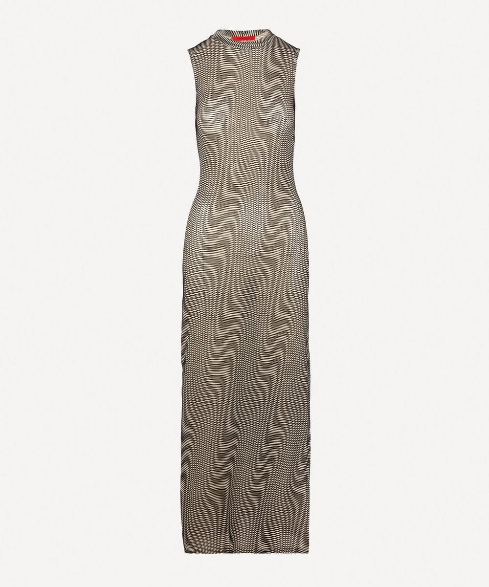 Eckhaus Latta - Burnout Optic Warp Tank Dress