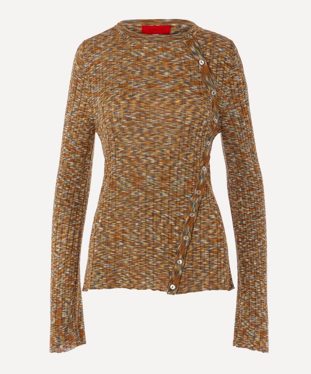 Eckhaus Latta - Space-Dye Button-Up Knit