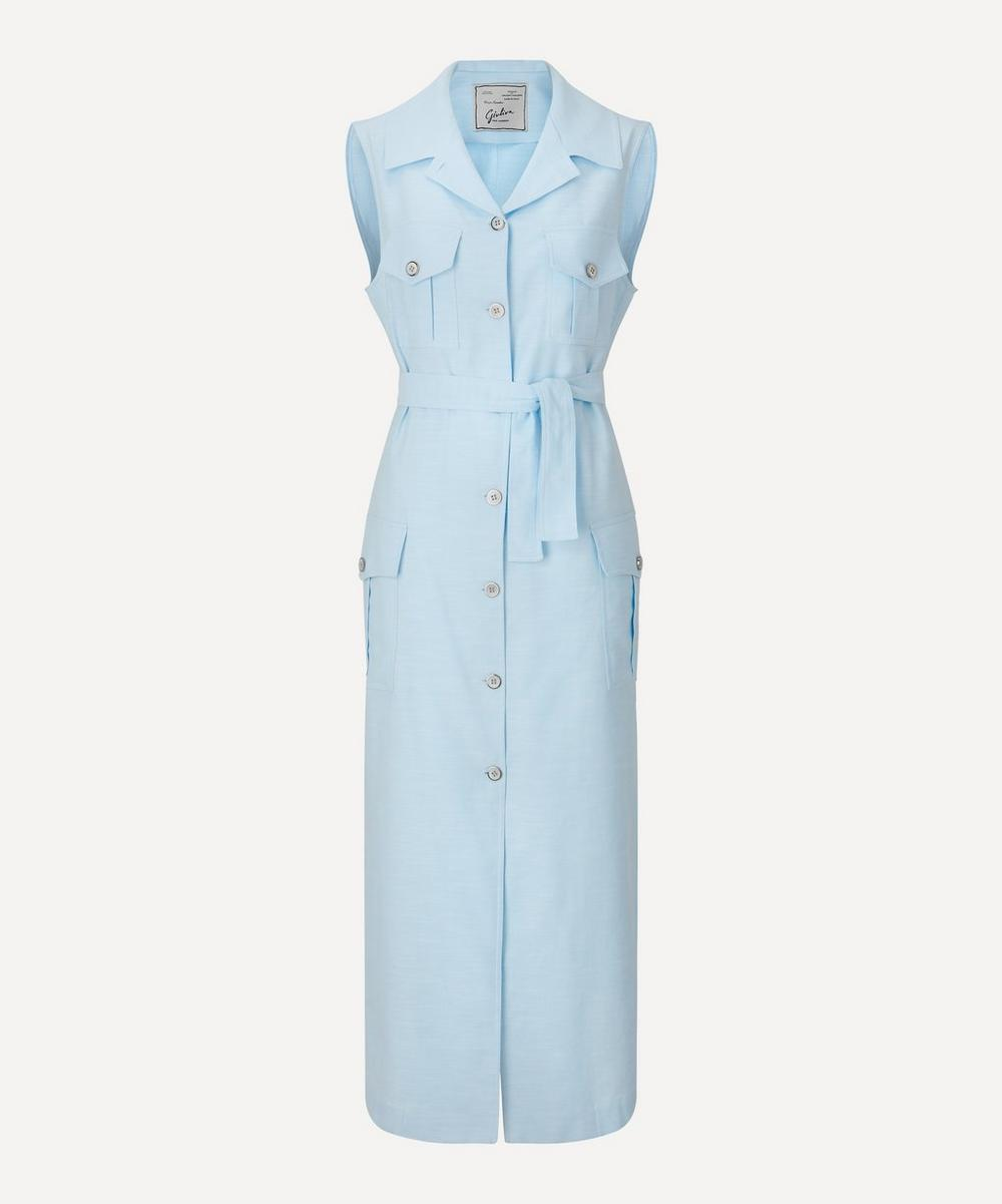 Giuliva Heritage Collection - Sleeveless Belted Safari Dress
