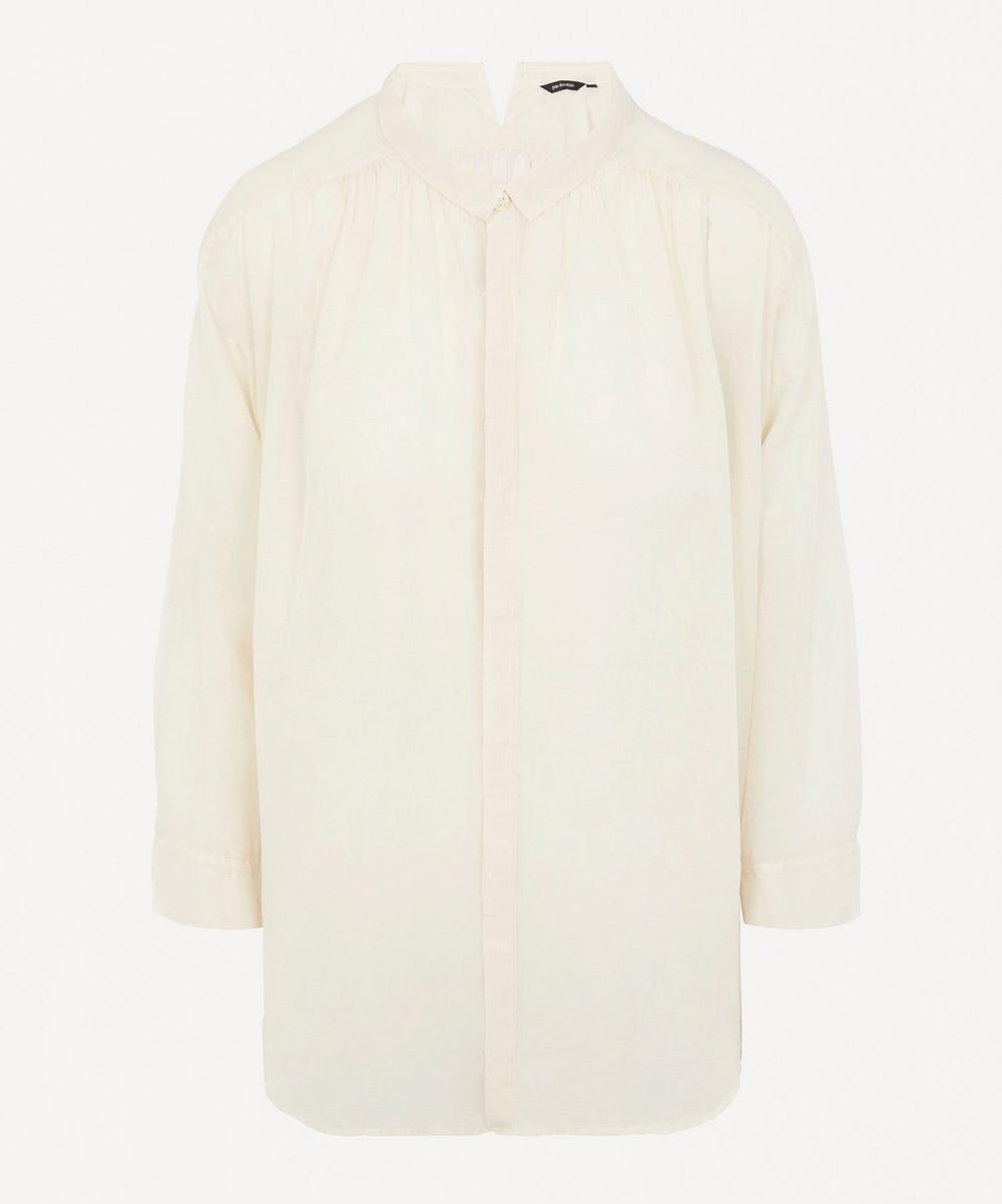 pas de calais - Button-Up Mini Collar Blouse