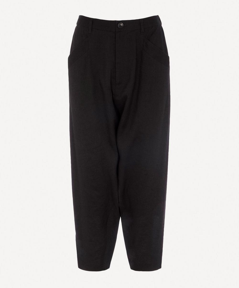 pas de calais - Linen Tapered Trousers