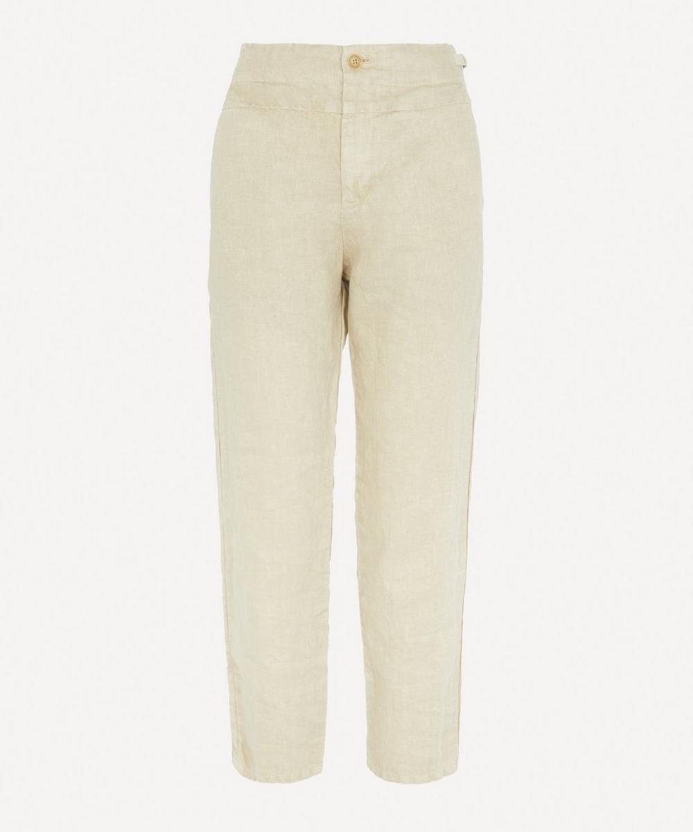 pas de calais - Tapered Linen Trousers