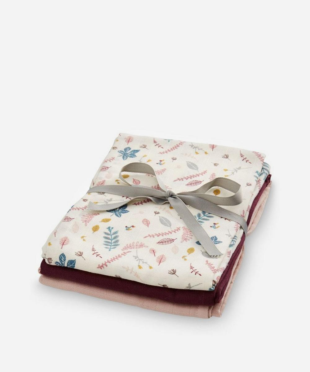 Cam Cam Copenhagen - Pressed Leaves Muslin Swaddling Cloth Pack of 3