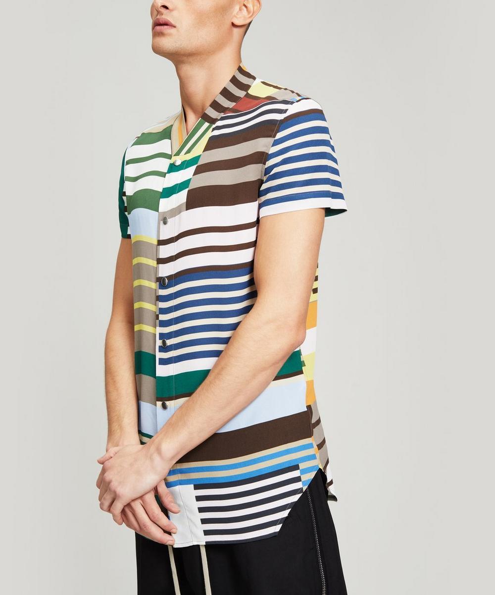 Rick Owens - Golf Multi-Stripe Short-Sleeve Shirt